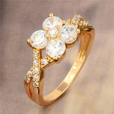 Charming Big Cocktail crystal Crystal 18K Yellow Gold Filled Ladies Ring,S6-9