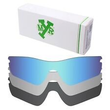 MRY POLARIZED Replacement Lenses for-Oakley Radar Path Blue / Silver/ Black
