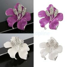 Wedding Bridal Rhinestone crystal Rose Flower brooches brooch pin Decor