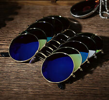 Round Mirrored Sports UV400 Sunglasses Eyewear Sun Glasses Shades Goggle j