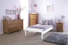 MADRID SOLID WOODEN LOW FOOT BEDSTEAD CLASSIC BED FRAME WHITE 3FT 4FT 4FT6 5FT