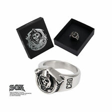 New in Box Licensed SOA Sons of Anarchy Grim Reaper Stainless Steel Ring