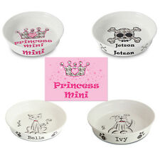 Personalised Cats Dogs Kittens Puppy Pet Gift Feeding Mats Bowl Dish