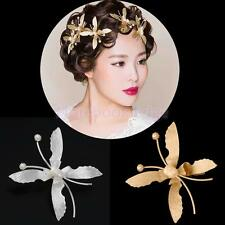 Women Butterfly Hair Clips Flower Hairpin Barrette ClampWedding Bridal Jewelry