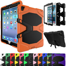 Heavy Duty Shockproof Hybrid Hard Stand Case Protective Cover Fr iPad mini 1 2 3