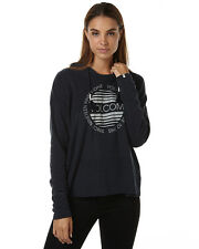 New Volcom Women's Lived In Womens Pullover Hood Pu Womens Hoodie Blue