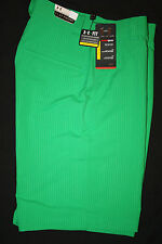 UNDER ARMOUR Men's Bent Grass Embossed Striped Flat Front Golf Shorts NWT
