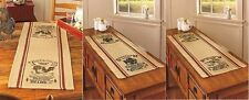 Table Runner Country Kitchen Primitive Farmhouse Farm Chicken Cow Pig Dairy NEW
