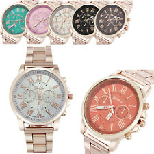 Hot Stylish Fashion Roman Geneva Watch Stainless Steel Quartz Sports Wrist Watch