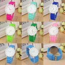 Unisex Fashion Silicone Watch Women Jelly Gel Quartz Analog Sports Wrist Watch