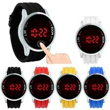 Fashion Elegant Waterproof Men LED Touch Screen Day Date Silicone Wrist Watch