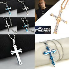 Religious Particular Significance Cross Necklace Stainless Steel Pendant & Chain