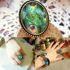 New Retro Style Big Rhinestone Ring Vintage Stone Fashion Girl 6 Colors Hot Sale