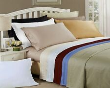Luxury 650TC Egyptian Cotton Solid Sheet Set