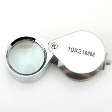 10X 20X 30X 21mm Jewellery Loupe Eye Glass Magnifying Magnifier Lens Folding WS1