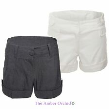 Womens Ladies Tailored Shorts Hot Pants Work Fashion Summer Casual