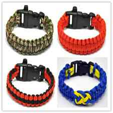 Outdoor Survival Paracord Bracelet 550 Parachute Cord Wristband Emergency Rope