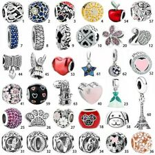 925 sterling authentic silver charm bead For European charms bracelet chain