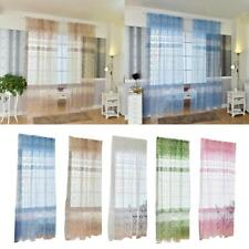 Window Curtain Voile Drape Panel Tulle Scarf Valance Sheer Screen Room Divider