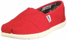 NEW YOUTH GIRLS BOYS TOMS CLASSICS RED CANVAS ORIGINAL SO AWESOME