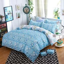 Single Queen King Size Bed Set Pillowcase Quilt Duvet Cover Cute Dogs Puppy L