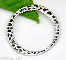 Wholesale Silver Tone Jewelry Ring Connectors 30x28mm