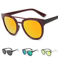 Men's Retro Aviator Mirrored Lens UV400 Sunglasses Eyewear Glasses Shade Unisex