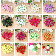100pcs Roses Artificial Silk Flower Heads Party Wedding Home Decor Wholesale