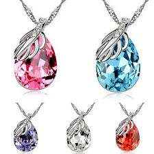 Fashion Charm Pendant Chain Crystal Jewelry Silver Rhinestone Choker Necklace