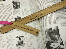 Personalised Wooden Ruler and Bookmark  ,Engraved Gifts for School Teacher