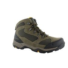 Hi-Tec STORM Waterproof Mens Suede Leather Hiking Walking Boots Brown/Taupe/Gold