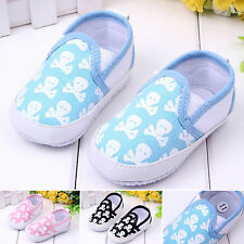 Newborn Baby Toddler Boy Girls Skull Printed Shoes Slip On Sneakers Prewalker
