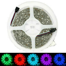 RGB 5M 150/300Leds 5050 SMD LED Strip Light White-Reel+ Remote + DC Power Supply