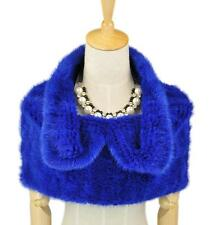 New!! 100% Real Genuine Knit Mink Fur Cape Stole Coat Scarf Shawl Wrap Skirt
