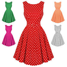 Dolly & Dotty Lola Polka Dot Retro Vintage 1950s Classic Party Prom Swing Dress