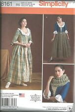 SIMPLICITY 8161/8162 Misses 18th Century Scots Outlander Costume Sewing Patterns