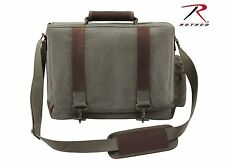 Rothco Vintage Canvas Pathfinder Laptop Bag With Leather Accents - 9691