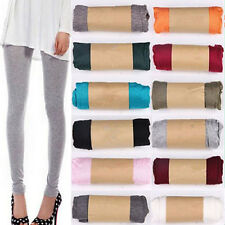 Women Girls Ornate Korean Style Candy Color Modal Cotton Slim Leggings Pants