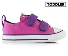 Converse Toddler Chuck Taylor All Star Strap Sneaker - Dahlia Pink/Eggplant
