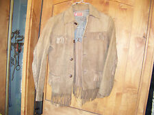 VINTAGE HAMLEY SADDLE CO.  FRINGE LEATHER JACKET SMALL 1950'S