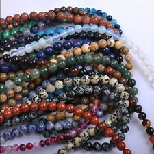 Hot Sale Multi-Color Gemstone Round Spacer Loose Beads 4 6 810 12mm DIY Crafts