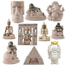 Assorted The Hue Sandstone Hand Carved Buddha/Animal Carving Standing God Statue