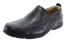 Hush Puppies GT H12465 Men's Shoes Black Leather Loafers w/ Sheepskin Lining