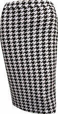 NEW LADIES WOMENS PRINTED BODYCON FITTED MIDI SKIRT SIZE 6,8, 10,12,14,16,18