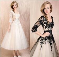 Lace Party Formal Prom Ball Cocktail Evening Wedding Dress Bridal Womens Gown