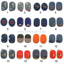 Paire Fabric Sew/Iron-on Denim Elbow Knee Patches Repair Sewing Applique Crafts