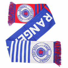 Rangers FC Official Knitted Football Crest Wordmark Scarf/Scarves
