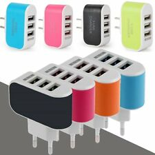 Universal 3.1A Triple USB 2 3 4 Port Wall Home Travel AC Charger Adapter US/EU