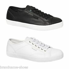 MENS DUNLOP VOLLEY S.S. PREMIUM LEATHER MEN'S SNEAKERS CASUAL BLACK WHITE SHOES