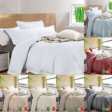 Bamboo and Egyptian Cotton Quilt Cover Duvet Doona Set - 400TC - Queen and King